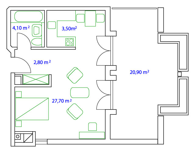 PLAN STUDIO - 38 qm